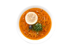 Solyanka soup Royalty Free Stock Photos