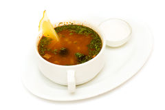 Solyanka soup, russian cuisine Stock Photo