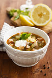 Solyanka soup Royalty Free Stock Photo