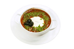 Solyanka soup. Royalty Free Stock Photos