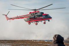 Som ändras för arktisk helikopter för trasport Mi-8 Arkivbild