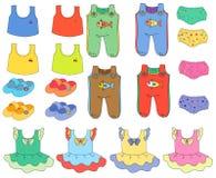 som är kan den använda illustrationen för barnkläderramen Royaltyfria Bilder
