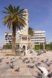 1901 som accepterades som den byggda för izmir för stadsklockan historiska kalkonen för tornet för symbolet för fyrkanten konak,  Arkivfoton