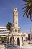 1901 som accepterades som den byggda för izmir för stadsklockan historiska kalkonen för tornet för symbolet för fyrkanten konak,  Arkivbilder