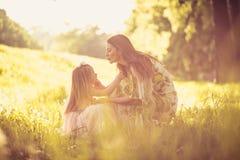 Som att spendera tid med min mamma ballerina little Arkivfoton