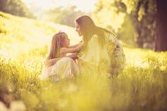 Som att spendera tid med min mamma ballerina little Royaltyfria Bilder