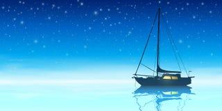som bakgrund är blå, kan fartygfartyg klubba mörka etc Royaltyfri Fotografi