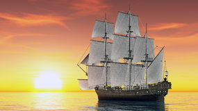 som bakgrund är blå, kan fartygfartyg klubba mörka etc Fotografering för Bildbyråer