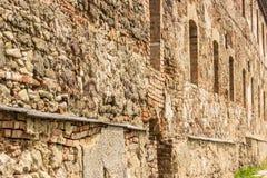 som bakgrund är kan använda väggen för fästningen bilden Royaltyfri Fotografi