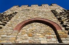 som bakgrund är kan använda väggen för fästningen bilden arkivbild