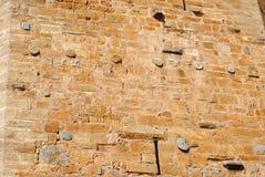 som bakgrund är kan använda väggen för fästningen bilden Royaltyfria Bilder