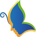 som bakgrund är svart, kan fjärilen funktionsläget för logotypen för logoen för element för cmykfärgdesignen ställa in använt Royaltyfri Bild