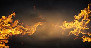 som bakgrund flamm den underbara väggen Arkivbilder