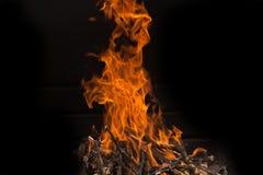 som bakgrund flamm den underbara väggen Arkivfoton