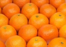 som bakgrund många orange tangerines Fotografering för Bildbyråer