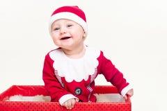 som behandla som ett barn pojke claus klädde santa Arkivfoto