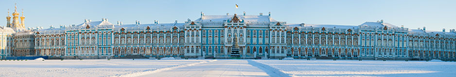 som byggd artonde empress för det catherine århundradet var jag tsarskoye för sommaren för slottuppehållseloen Royaltyfri Foto