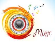 Som criativo artístico abstrato da música ilustração do vetor