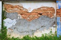 som den gammala väggen för bakgrundstegelsten Arkivbilder