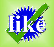 Som den Tick Means Social Media And kontrollen Royaltyfria Bilder