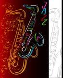 Som do jazz ilustração royalty free