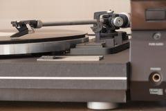 Som do vintage do conceito do jogador de disco do vinil imagem de stock