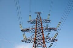 som elektriskt gigantiskt torn Arkivfoton