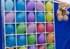 som färgrika mål för ballonger Arkivfoto