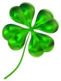 som för leaflycka för växt av släkten Trifolium fyra gott symbol Royaltyfria Bilder