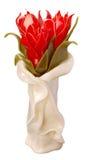 som festliga röda tulpan för stearinljus Royaltyfria Bilder