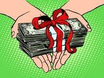 som gåvapengar Finansiell inkomst stock illustrationer