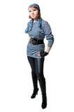 som härligt, piratkopierar den klädda flickan Royaltyfria Foton