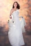 som härlig brud klädd kvinna Royaltyfri Bild