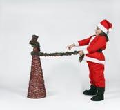 som jul claus klädd flicka santa Arkivbild
