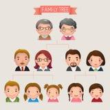 som kan fördubbla, lätt tar tomma grupperade individuellt name nödvändiga bort för familjmapp ramar etiketter dem treevektorn dig Arkivfoto