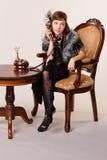 som klädd gangsterflicka Royaltyfri Fotografi