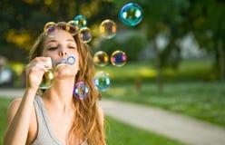 som lätta slående bubblor Arkivfoton