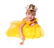 som liten princess för klädd flicka Royaltyfri Fotografi