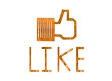 Som logo Arkivfoto