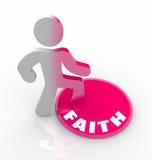 som när du ändrar tro fyller din gudhjärta Arkivbild