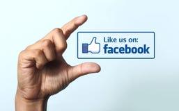 Som oss på den Facebook symbolen Arkivfoto