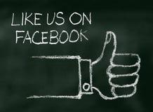 Som oss på Facebook Arkivfoton