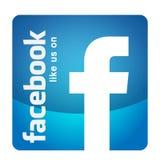 Som oss p? symbolen f?r logo f?r illustrationer f?r facebooksymbolsbaner f?r reng?ringsduk stock illustrationer
