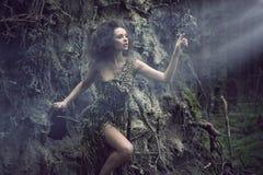 som sexig treekvinna för del Arkivfoto