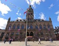 Som skjutas av det Chester stadshuset, Chester, England Royaltyfri Fotografi