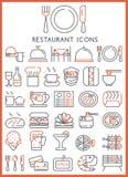 som stora symbolsobjekt för kontroll ställde mer mycket min annan portföljrestaurangserie in den liknande tusentalsvektorn gott Royaltyfri Foto