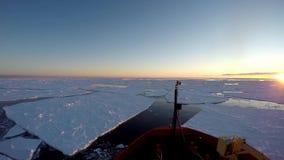 Is som svävar på reflekterande oklarheter Antarktis för vatten lager videofilmer