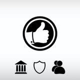 SOM symbol vektorillustration Sänka designstil Royaltyfria Foton