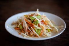 Som tailandese Tam dell'insalata Immagine Stock