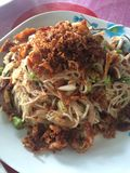 Som Tam food cuisine from Thailand. Som Tam is green papaya salad cuisine from Thailand stock photo